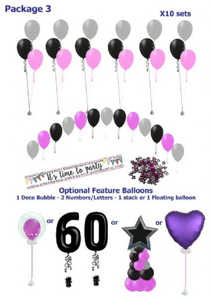 Balloon Package 3: Balloon Package ideal for any occasion
